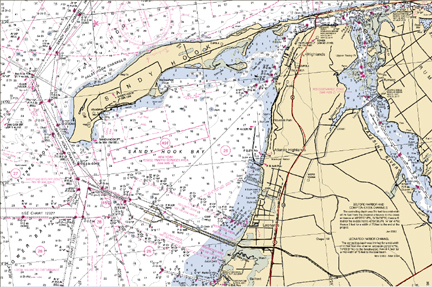 Sandy Hook Wreck Chart Dive Sites New Jersey Scuba Diving