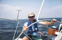 Alex at the helm